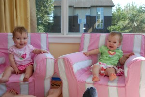 Hadley and Lydia - one year old!