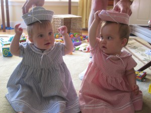 Hadley, Lydia, and their hats