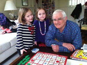 L&H during one of hundreds of board game sessions with Grandpa