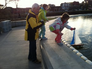At the model boat pond