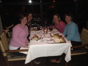 Dinner with Rebecca and Shannon (who I came with) and Carol, a woman we met on the retreat
