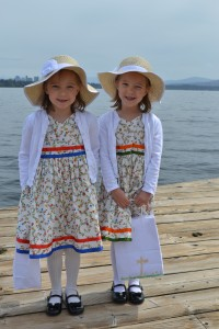 H and L in their Easter finest (courtesy of the immensely talented Grandma J)