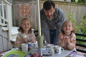 Dyeing Easter Eggs with Dad (L&H)