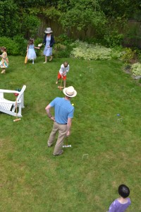 Lawn games -- in addition to croquet we also had bocce, a ring toss, and t-ball