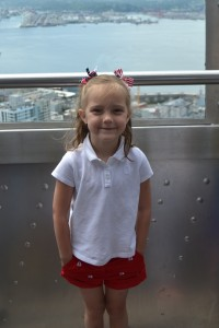 Hadley on the Space Needle Observation deck