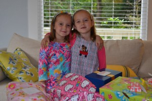 6 year old Hadley and Lydia