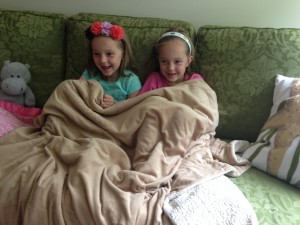Hadley and Lydia watching Frozen