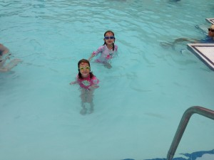 L&H taking a birthday swim (brrrr)